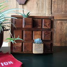 antique parts cabinet handmade cubby desktop organization