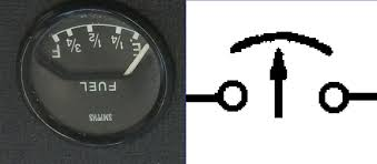 e type fuel temp oil ammeter gauge wiring diagram symbols