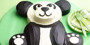 panda cake template fondant ruffle cake ombre style tutorial