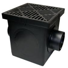 6 Floor Drain by Nds 9 In X 9 In Black Catch Basin 2 Opening Kit 900bkit The