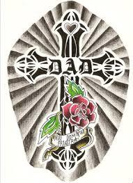 tattoo designs cross memorial tattoo design