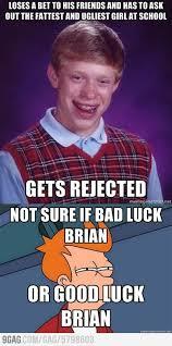 bad luck brian meme hilarious stuff pinterest meme bad luck