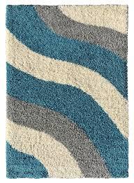 Turquoise Brown Rug Amazon Com Soft Shag Area Rug 5x7 Geometric Striped Turquoise