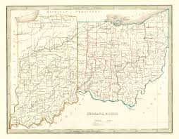 Map Of Indiana And Ohio by Ohio Topographic Mapfree Maps Of Us Usa Map With States Royalty