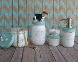 Shabby Chic Bathroom Decor by Mason Jar Bronze And Warm White 4 Piece Bathroom Setsoap