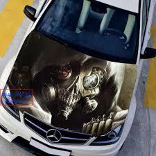 3d Hole Murals 3d Cake Image Auto Graphics Hood Wrap Decals 3d Game Overwatch Reaper Gabriel