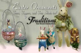 easter ornaments finials treetoppers and garlands for easter trees