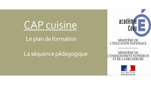 sujet cap cuisine cap cuisine le plan de formation la séquence pédagogique ppt
