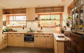Birch Plywood Cabinets Using Prefab Kitchen Cabinets In Studio Kitchen Design Ideas Blog