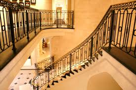 classic interior design with wrought iron stair railing ideas