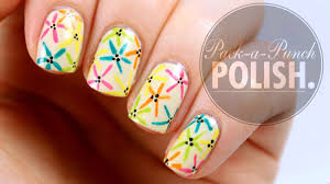 nail art easy spring flower nail art tutorial packapunchpolish