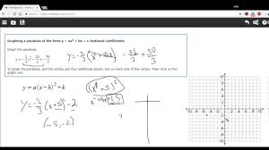 graphing a parabola by completing the square to find the vertex