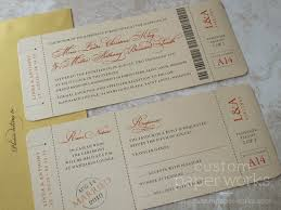 ticket wedding invitations page 3 custom paper works