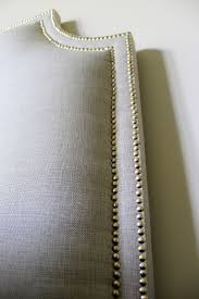 Nail Trim For Upholstery Diy Upholstered Headboard With Nailhead Trim Tutorial 7 Simple