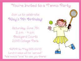 Backyard Birthday Party Invitations Tennis Birthday Party Invitations