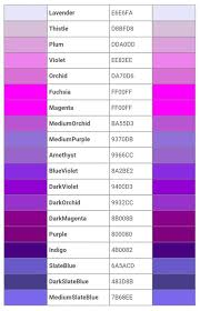 color names fashionista101 diy u0026 life hacks pinterest
