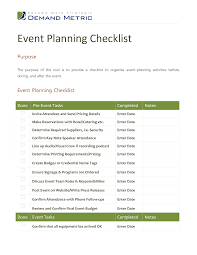 event planning checklist template best business template