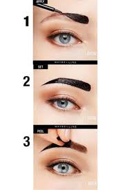tattoo eyebrows by maybelline tattoo brow peel off tinted semi permanent eyebrows maybelline