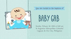 animated invites christening sample youtube