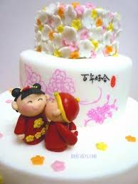 Mom And Daughter Cakes Chinese Themed Wedding Cake