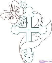 cool pictures of crosses to draw free download clip art free