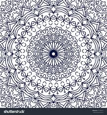 mandala coloring page lace ornament round stock vector 411395647