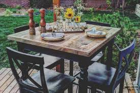 rustic high top table rustic high top table redo