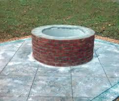 Brick Firepit Brick Pits Backyard Pits Va Atlantic Hardscapes