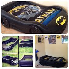 batman car toy bat mobile bed we turned a little tykes blue race car bed into