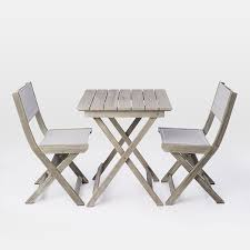 Next Bistro Table Portside Folding Bistro Table Weathered Gray West Elm