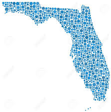 Florida Usa Map by Map Of Florida Usa In A Mosaic Of 887 Circles Royalty Free