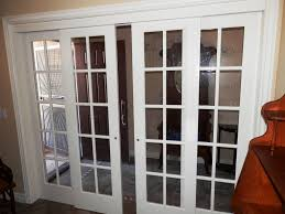 Glass Doors For Closets Interior Sliding Doors Wood Closet 3 Panel Mirror For Bedrooms