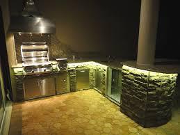 Under Cabinet Kitchen Lights Under Cupboard Kitchen Lighting Having L Shape Brown Finish
