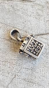 charm bracelet clasps images Sterling prayer box charm sterling silver 925 tiny hinged prayer jpg