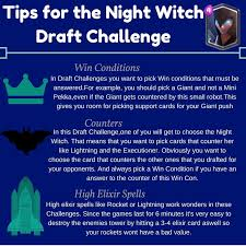 Challenge Tips Strategy Tips For The Witch Draft Challenge Clashroyale