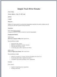 professional driver resume create resume customize resume truck