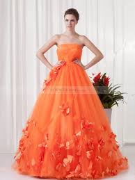 quince era dresses strapless tulle satin floor length quinceanera dress with 3d