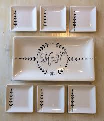 painted platters personalized this is beautiful work custom painted ceramic serving set by