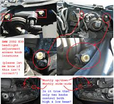 bmw headlights can you show me on this pic where the headlight adjusters are