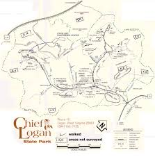 Logan Ohio Map by Ecology Of Chief Logan State Park