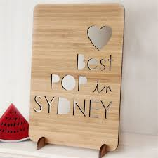 custom s day card laser cut bamboo wood happy fathers day