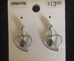 s hypoallergenic earrings vintage hematite heart earrings posts hypoallergenic southwest