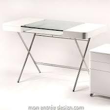 bureau laqué blanc design bureau design laqué blanc et verre trempé cosimo d adentro achat