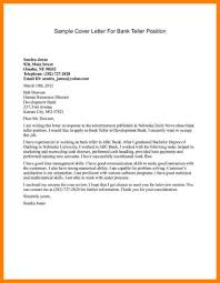 Resume For Bank Teller Objective Bank Teller Cover Letter Sample Image Collections Cover Letter