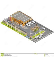 warehouse area stock vector image 61658559