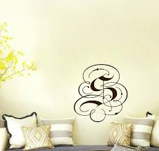 monogram letter stickers wall decor letters stickers letter decals for walls fancy monogram
