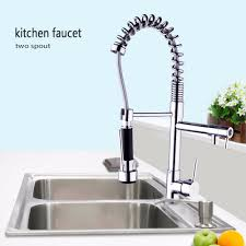 kemaidi us stock free shipping chrome brass spring kitchen faucet
