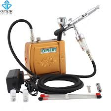 Professional Airbrush Makeup Machine Ophir 3 Tips Airbrush Compressor Set For Body Paint Nail Art