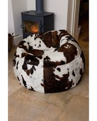 cowhide beanbag pure sheepskin