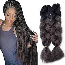 ombre kanekalon braiding hair amazon com jiameisi two tone ombre jumbo braid hair extension